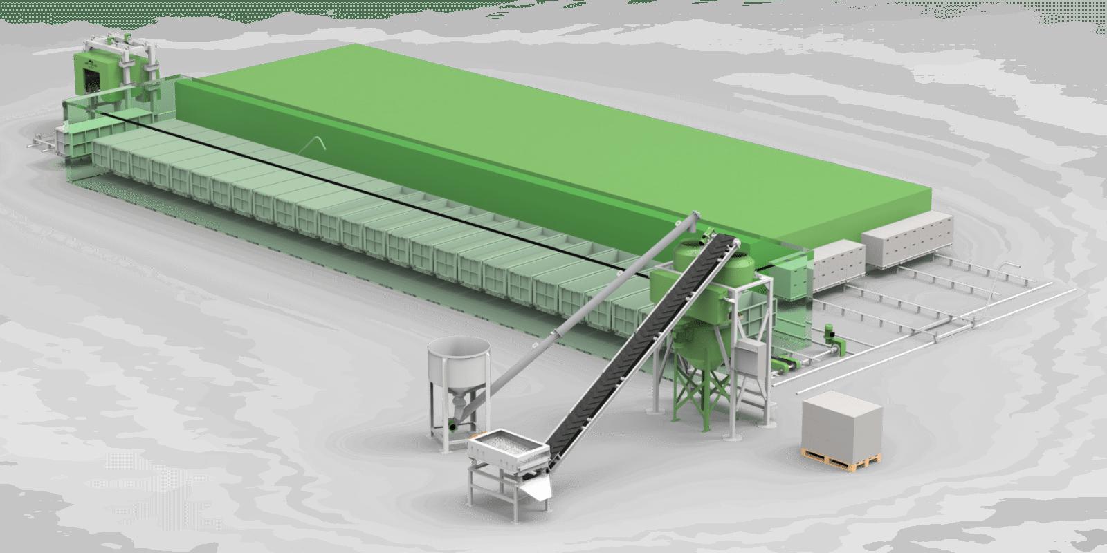 Fábrica de Pré-Moldados em Concreto Celular Não-Autoclavado ECOPORE 200K